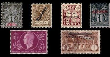 un lot de timbre de collection