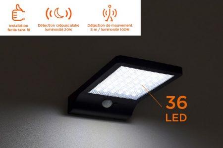 applique a energie solaire sans fil